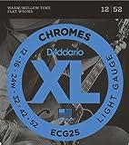【国内正規品】 D'Addario ダダリオ エレキギター弦 XL Chromes Flat Wound Light(12-52) ECG-25