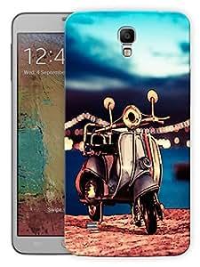 "Humor Gang Vintage Scooter Beach Printed Designer Mobile Back Cover For ""Samsung Galaxy Mega 6.3"" (3D, Matte, Premium Quality Snap On Case)"