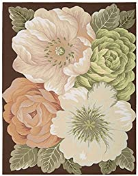 Rug Squared Laurel Floral Area Rug (LA06), 8-Feet by 10-Feet 6-Inches, Multicolor