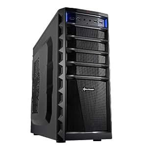 Sharkoon Technologies REX3 Eco Midi-Tower PC-Gehäuse (ATX, 3x 5,25 externe, 1x 3,25 externe, 4x 3,5 interne, 6x USB 2.0) schwarz