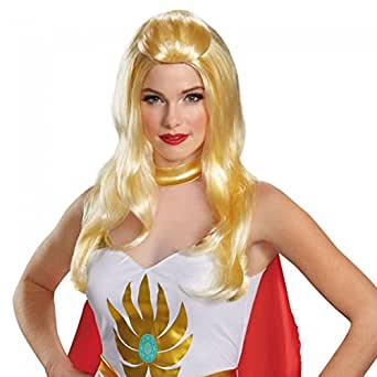 She-ra Wig Masters of the Universe 80's Cartoon Blonde Adult Womens Costume