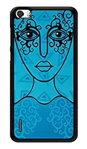 """Humor Gang Blue Line Woman Printed Designer Mobile Back Cover For """"Huawei Honor 6"""" (3D, Glossy, Premium Quality Snap On Case)"""