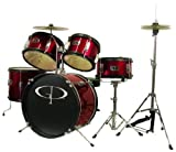 GP55 Child Size Junior Drum Set with Seat, Sticks & Cymbals - Picture