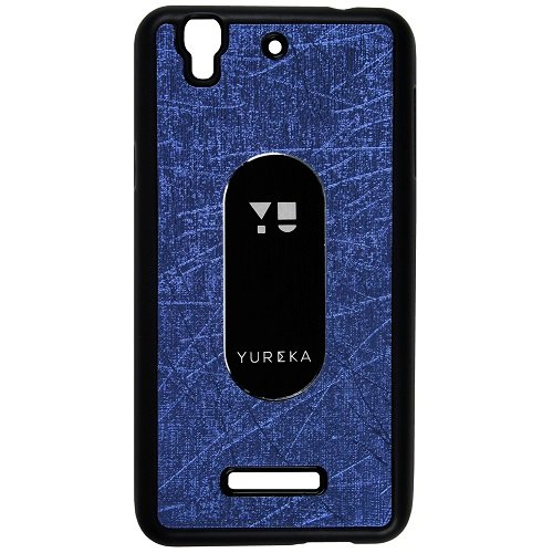 Casotec Metal Back TPU Back Case Cover for Micromax YU Yureka AQ5510 - Drak Blue  available at amazon for Rs.119