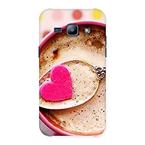 Premium Pink Love Coffee Multicolor Back Case Cover for Galaxy J1