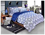 Bellagio Elite Collection Cotton 1 Double Bed Sheet & 2 Pillow Covers (Blue)