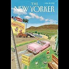 The New Yorker, April 20th 2015 (William Finnegan, James Verini, Peter Schjeldahl)  by William Finnegan, James Verini, Peter Schjeldahl Narrated by Todd Mundt