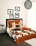 Tangerine Desert Safari Cotton Single Duvet Cover - Beige/Brown and Yellow (3119346)
