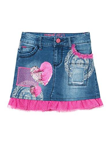 Desigual Mädchen Rock Fal_Gargalla, Blau (Jeans 5006), 128 (Herstellergröße: 7/8) thumbnail