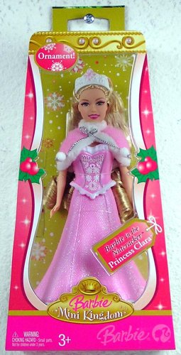 Barbie Mini Kingdom Barbie in the Nutcracker Princess Clara Christmas Ornament - 1