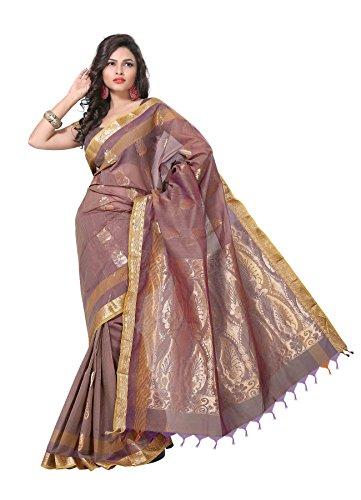Manvi Cotton Zari Saree (Mscas-1021 _Brown)