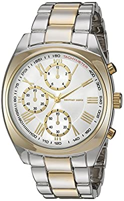 Geoffrey Beene Men's GB8074TTG Analog Display Japanese Quartz Two Tone Watch