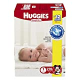 Huggies Snug and Dry Diapers, Size 1, Economy Plus Pack, 276 Count (One Month Supply)