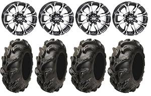 STI HD3 14″ Wheels Machined 28″ Mega Mayhem Tires Polaris Sportsman XP 550 850