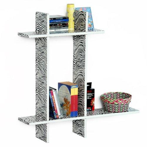 Trista - [Chic Zebra-B] Leather Cross Type Shelve / Book Shelve / Floating Shelve (4 Pcs)
