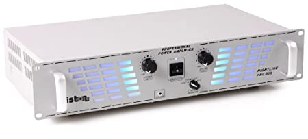 2400 watts amplificateur PA party disco musique fête D.J. Liston 800 argent