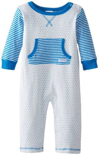 Absorba Baby-Boys Newborn Trusseau Coverall, Blue, 3-6 Months front-1038188