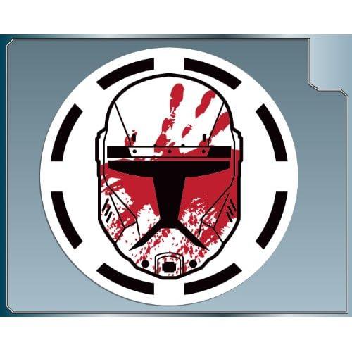Amazon.com: SEV HELMET w/ Logo Republic Commando Vinyl Decal Sticker