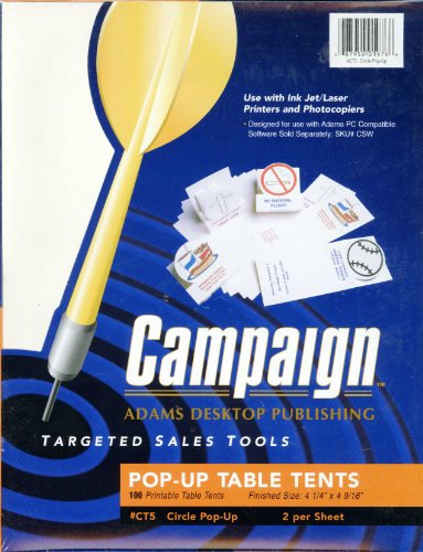 Campaign Pop-up Table Tents