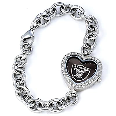 NFL Women's FH-OAK Heart Collection Oakland Raiders Watch