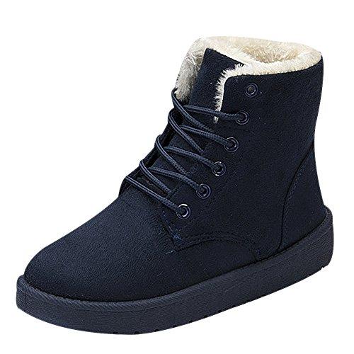 Vonfon Womens Classic Fur Lining Lace Up High Street Boot Snow Boot