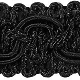 Posamentenborte 10m schwarz 16mm breit Borte mit Posamenten