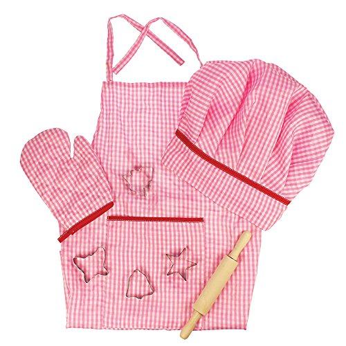 Bigjigs Toys Le kit du chef rose