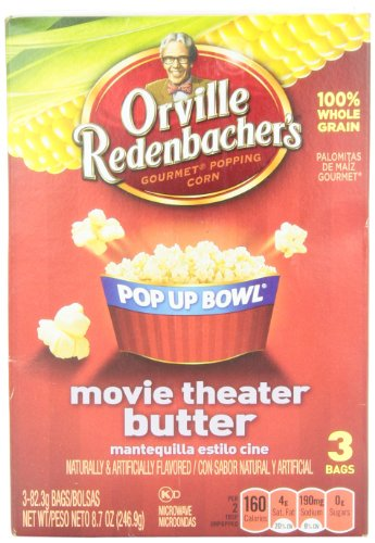 Orville Redenbacher's Pop Up Bowl Movie Theater Butter 3 pk Microwave Popcorn 8.7 oz