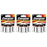 Energizer Max C4 C Cell Alkaline Battery - Total: 12 Batteries (3 X 4 Count Packs)