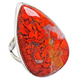 Brecciated Red Jasper, Argent Sterling 925 Bague 8