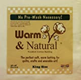 "Warm & Natural Cotton Batting-Crib Size 45""X60"""