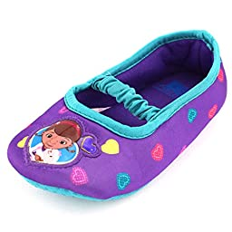 Disney Doc Mcstuffins Scuff Slipper (Toddler), Purple, Small (5/6 M US Toddler)