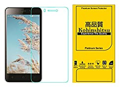 Kohinshitsu Platinum Series Premium Temepered Glass Screen Guard for LYF Wind 6 Mobile Phone 2016 Model with Oleophobic Coating / 9H Hardness / 2.5D Curved Edges / 0.33 MM Thickness