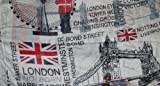London Theme Scarf in Light Grey