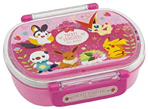 japanese licensed pokemon microwavable bento lunch box pink with license divider inside. Black Bedroom Furniture Sets. Home Design Ideas