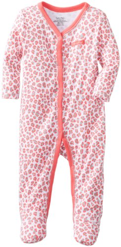 Calvin Klein Baby-Girls Newborn Animal Print