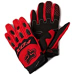 FOX DIRTPAW RACE MX/OFFROAD GLOVES RED MD