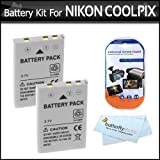 2 Pack Battery Kit For Nikon