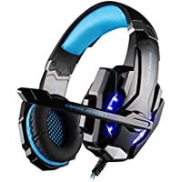 Rubility 3.5mm Gaming Headphone With Mic LED Light Game Headset For PS4 Tablet Laptop Cell Phone Black