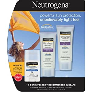 Neutrogena Sunscreen Ultra Sheer Stick SPF 70, 1.5 Ounce