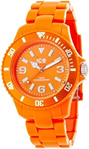 ICE-Watch - Montre Mixte - Quartz Analogique - Ice-Solid - Orange - Unisex - Cadran Orange - Bracelet Plastique Orange - SD.OE.U.P.12