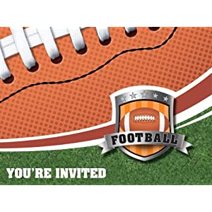 Super Bowl party invitations at Amazon.com