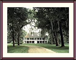 America's Oldest Family Plantation- Louisiana's Parlange Photograph - Beautiful approx. 24x28-inch Framed &amp; Matted Photographic Print by Carol M. Highsmith