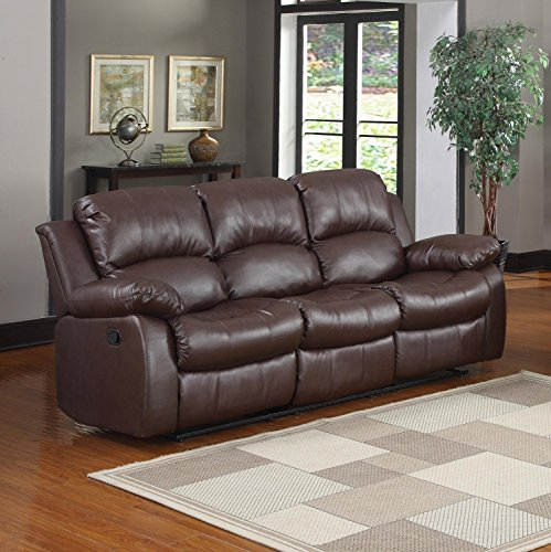 3-seat-sofa-double-recliner-black-brown-bonded-leather-brown