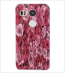 PrintDhaba Roses D-5514 Back Case Cover for LG NEXUS 5X (Multi-Coloured)