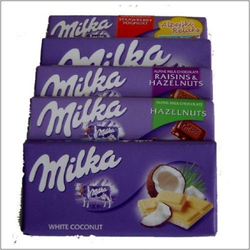 Milka Chocolate - 10 Bars (2 of each - alpine,