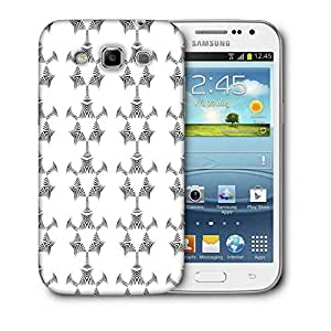 Snoogg White Triangle Printed Protective Phone Back Case Cover For Samsung Galaxy Samsung Galaxy Win I8550 / S IIIIII