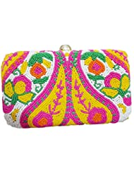 The Indian Handicraft Store Women's Clutch Mango Leaf