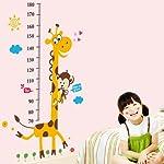 ウォールステッカー 身長 50cm-180cm はがせるウォール ステッカー 猿とキリンの身長計柄 wall sticker 壁紙 60*90cm