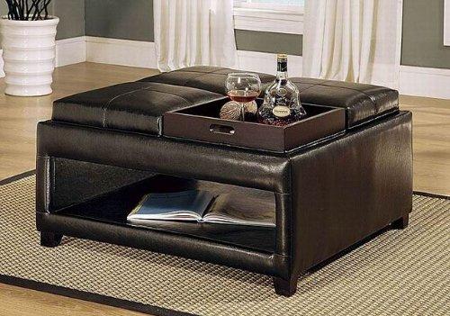 Superb Leather Storage Ottoman Coffee Table Inzonedesignstudio Interior Chair Design Inzonedesignstudiocom